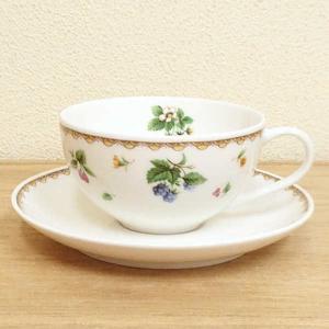 ティーカップソーサー フルーツハーモニー カフェ 業務用 美濃焼|shikisaionline