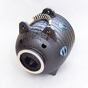 蚊遣り 蚊取り線香入れ 陶器 黒水晶 ブタ 美濃焼|shikisaionline