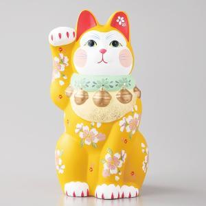 招き猫 雅招猫 大 黄 箱入り 縁起物 ギフト プレゼント|shikisaionline