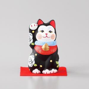 招き猫 雅招猫 小 黒 箱入り 縁起物 ギフト プレゼント|shikisaionline