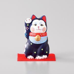 招き猫 雅招猫 小 紫 箱入り 縁起物 ギフト プレゼント|shikisaionline
