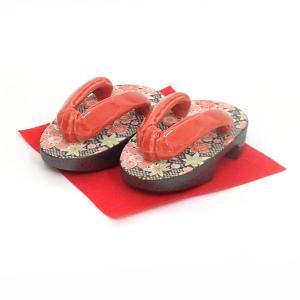 下駄の置物 ミニ下駄 鹿の子 箱入り 縁起物 ギフト プレゼント 日本製|shikisaionline