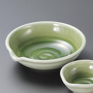 刺身皿と醤油小皿のセット。多彩な料理に対応できる業務用和食器です。 サイズ:緑青磁片口刺身鉢:W15...