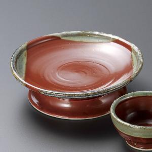 刺身皿と醤油小皿のセット。多彩な料理に対応できる業務用和食器です。 サイズ:赤楽5寸高台刺身皿:W1...