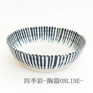 刺身鉢 向付藍十草4.5ボウル 中鉢 和食器 業務用 美濃焼 9d07821-208|shikisaionline