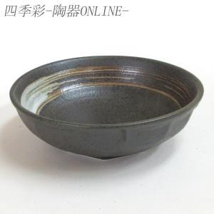 刺身鉢 向付 黒斑点白刷毛 石垣4.5鉢 和食器 業務用 美濃焼 9d08022-468|shikisaionline