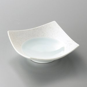 刺身鉢 向付 ラスター湖水正角鉢 和食器 業務用 美濃焼 9d08311-148|shikisaionline