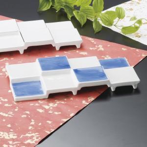 中皿 染付8品皿 珍味 おしゃれ 業務用 美濃焼 和食器 9d62904-148|shikisaionline