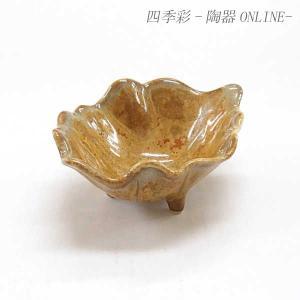 小鉢 珍味 金結晶三ッ足葉型小鉢 おしゃれ 業務用 和食器 美濃焼 9d14346-458|shikisaionline