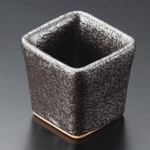 小鉢 黒油滴角珍味鉢 おしゃれ 業務用 和食器 美濃焼 9d13834-268|shikisaionline