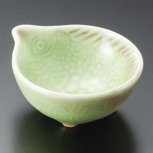 小鉢 魚ひわ貫入珍味鉢 おしゃれ 業務用 和食器 美濃焼 9d14143-268|shikisaionline