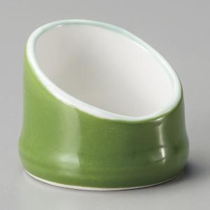 小鉢 グリン竹型珍味 4.3cm おしゃれ 業務用 和食器 美濃焼 9d14404-438|shikisaionline