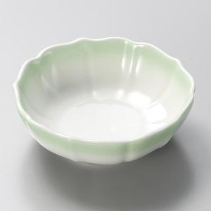 小鉢 グリーン花型小鉢 和食器 美濃焼 業務用|shikisaionline