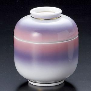 茶碗蒸し 二色吹ピンク紫小むし碗 おしゃれ 和食器 業務用 美濃焼 9d17807-258