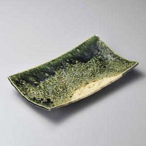 大皿 織部長角大皿 和食器 業務用 美濃焼|shikisaionline