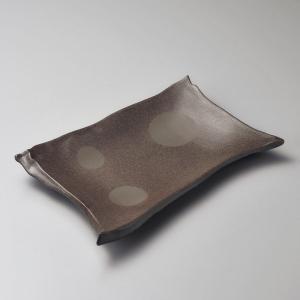 大皿 炭化土ちぎり盛皿 和食器 業務用 美濃焼|shikisaionline