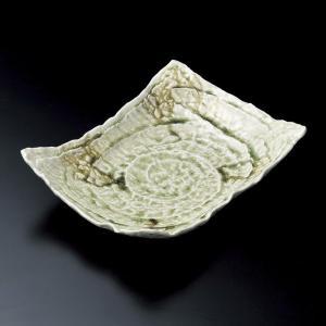 大皿 ビードロガタ彫長角四方上り盛皿 和食器 業務用 美濃焼|shikisaionline