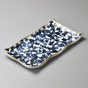 大皿 タコ唐草長角皿 和食器 業務用 美濃焼|shikisaionline