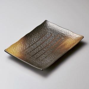 大皿 黒備前吹焼き物皿 長角皿 和食器 業務用 美濃焼|shikisaionline