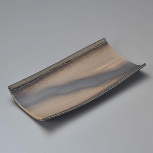 中皿 長角皿 金彩 手造り 27cm おしゃれ 和食器 業務用 万古焼 9d20404-658