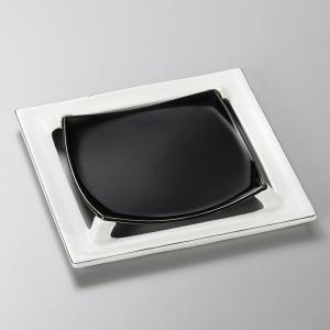 中皿 角皿 プラチナ四つ切高台皿 21cm 和食器 業務用 美濃焼 9d25103-148