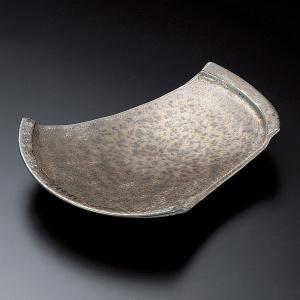 中皿 金結晶ちぎり8.5皿 変型皿 25.5cm 和食器 業務用 美濃焼 9d25519-148