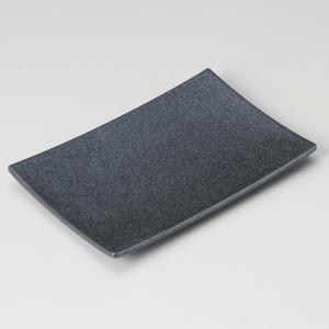 中皿 焼物皿 銀鱗16cm串皿 長角皿 和食器 業務用 美濃焼 9d30605-028