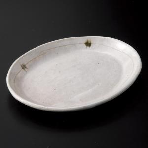 中皿 楕円皿 取り皿 粉引点彩小判皿 おしゃれ 和食器 業務用 美濃焼 9d33619-558