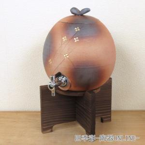火色小花焼酎サーバー焼杉台付 信楽焼 酒器 業務用|shikisaionline