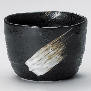焼酎カップ 黒結晶刷毛目マルチカップ 陶器 業務用 美濃焼|shikisaionline