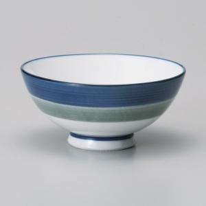 ご飯茶碗 二色ライン中平飯碗 強化磁器 和食器 美濃焼 業務用|shikisaionline