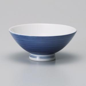 ご飯茶碗 千段呉須巻厚口中平飯碗 和食器 美濃焼 業務用|shikisaionline