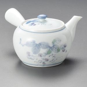 急須 青磁ぶどう急須 茶器 業務用 美濃焼|shikisaionline