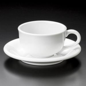 ティーカップソーサー 白磁NV紅茶碗皿 カフェ 業務用 美濃焼|shikisaionline