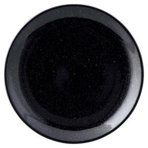 中皿 24cm皿 黒 新中華 美濃焼 中華食器 業務用 shikisaionline