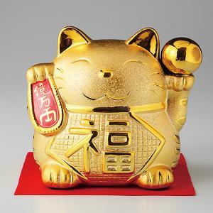 招き猫 貯金箱 金運招き猫 大 金球 箱入り プレゼント ギフト 招き猫 置物 縁起物|shikisaionline