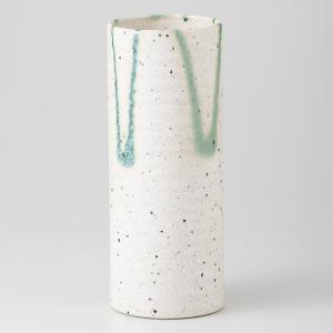 花瓶 フラワーベース 陶器 白三彩 円筒 箱入り プレゼント ギフト 父の日 母の日 敬老の日 shikisaionline