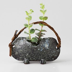フラワーベース 花器 陶器 青窯変 つる付 箱入り プレゼント ギフト 父の日 母の日 敬老の日 shikisaionline