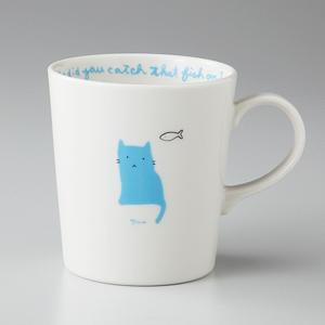マグカップ マイネコ ブルー 箱入り プレゼント ギフト 父の日 母の日 敬老の日|shikisaionline