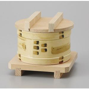 サイズ:蒸し器W10.1×H5.8cm底穴あり     木蓋W10.7×H2.1cm     木台W...