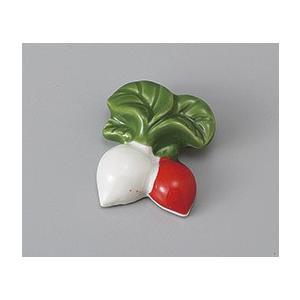 箸置き カブ 紅白 おしゃれ 美濃焼 業務用9a430-22-8g|shikisaionline