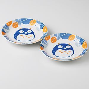 和食器 取り皿 2個セット 森の福郎 箱入り プレゼント ギフト 父の日 母の日 敬老の日|shikisaionline