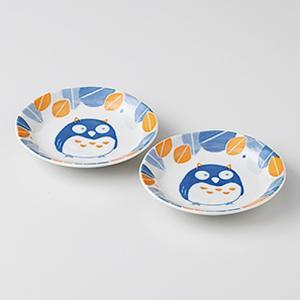 和食器 小皿 2個セット 森の福郎 箱入り プレゼント ギフト 父の日 母の日 敬老の日|shikisaionline