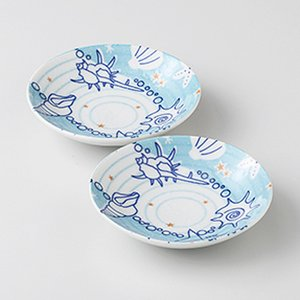 和食器 小皿 2個セット 貝あわせ 箱入り プレゼント ギフト 父の日 母の日 敬老の日|shikisaionline