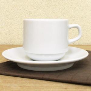 コーヒーカップソーサー アメリカン スタック ホテルベーシック カフェ 食器 業務用 美濃焼 9a772-24-43g|shikisaionline