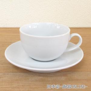 コーヒーカップソーサー カプチーノ ホテルベーシック カフェ 食器 業務用 美濃焼 9a772-6-43g|shikisaionline