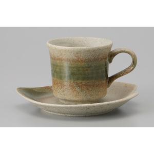 コーヒーカップ ソーサー 窯変織部 コーヒーカップ 陶器 おしゃれ 美濃焼 業務用 9a779-24-10g|shikisaionline