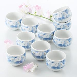 煎茶湯のみ 10客セット 花ごころ 箱入り プレゼント ギフト 父の日 母の日 敬老の日 shikisaionline