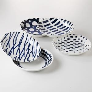 パスタ皿 カレー皿 5個セット ナチュラルブルー 箱入り おしゃれ 美濃焼|shikisaionline