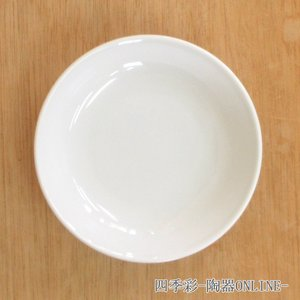 中皿 メタ玉13cm深皿 白 新中華 中華食器 業務用 美濃焼|shikisaionline